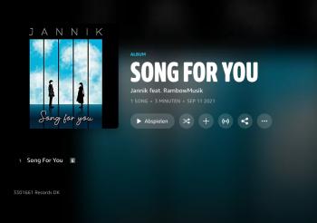 Jannik – Song for you (Studio edition)